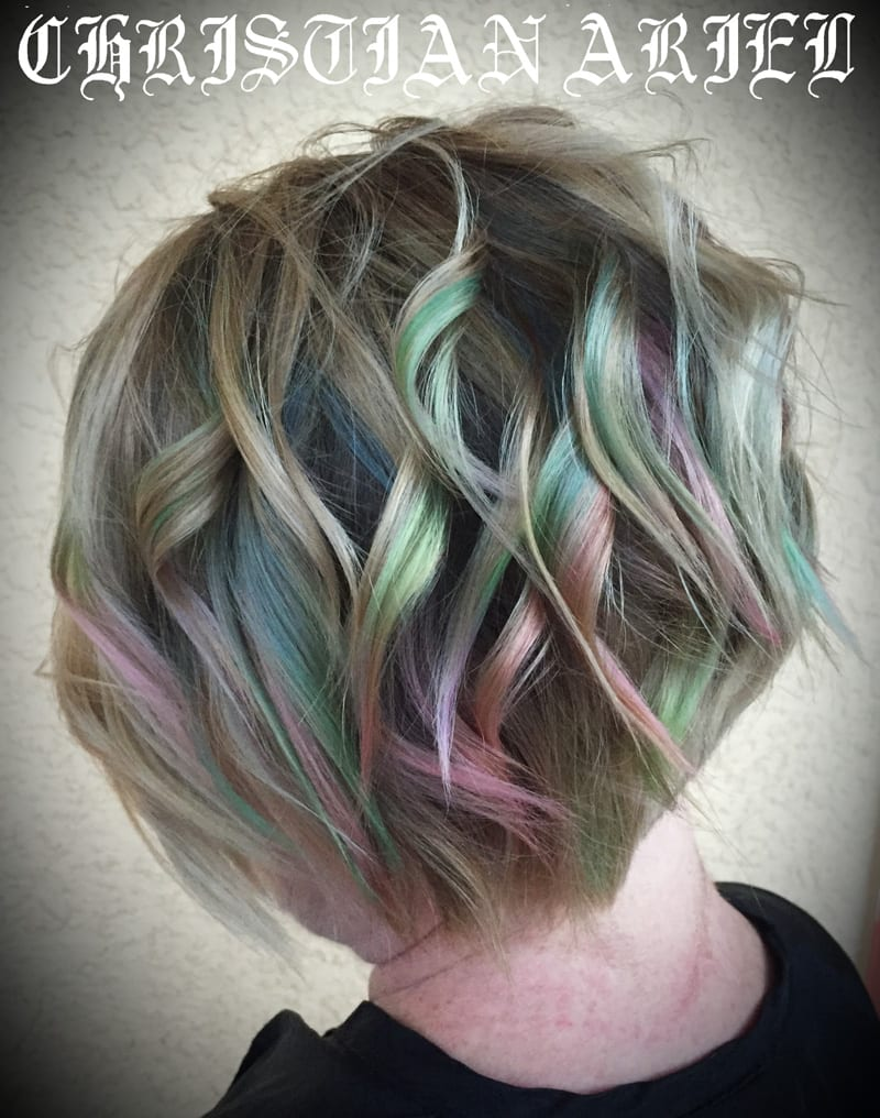Marbeled Pastel Pravana Hair