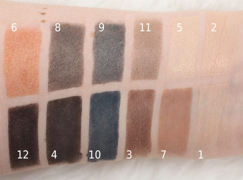 NARS NARSissist L'amour Toujours L'amour Eyeshadow Palette swatches