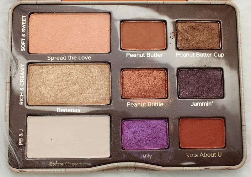 Too Faced Chocolate Palettes Comparisons - Peanut Butter and Jelly Palette