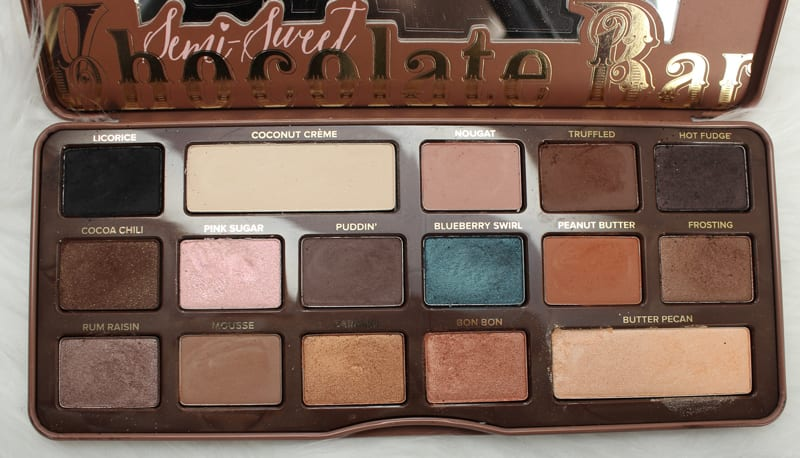 Too Faced Chocolate Palettes Comparisons - Semi-Sweeet Chocolate Bar Palette