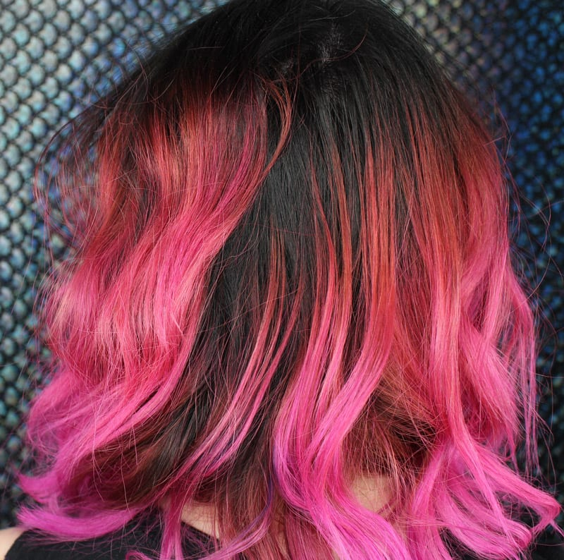 Hot Pink Hair for Spring