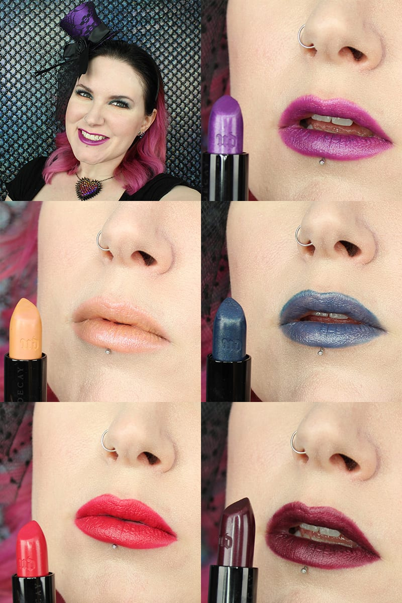Urban Decay Alice Through the Looking Glass Lipsticks Review and Swatches