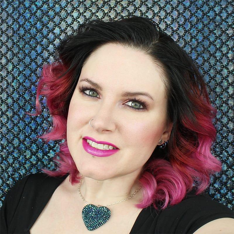 Wearing Aromaleigh Ostara Highlighter and Urban Decay Score Blush