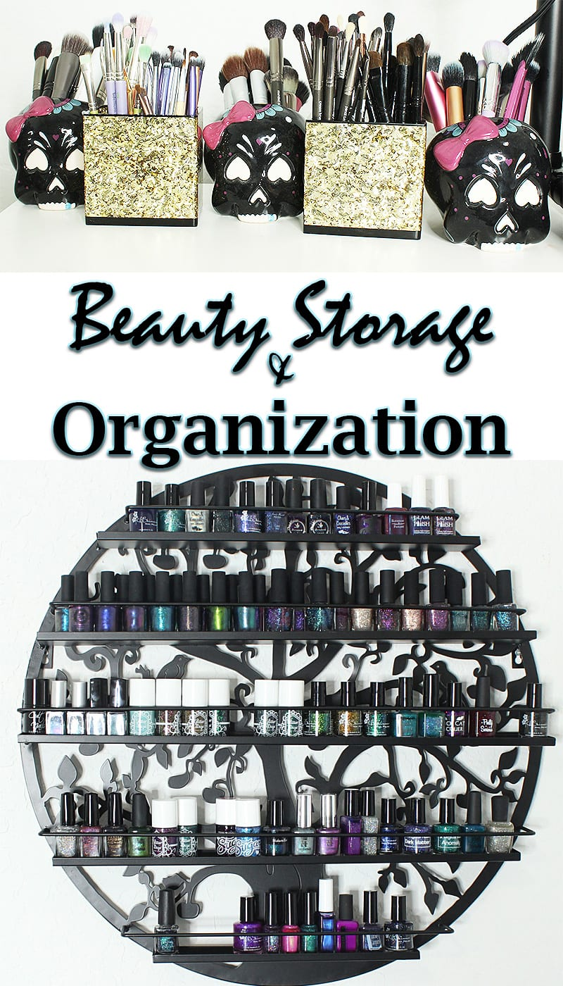 Beauty Storage and Organization Tips - How to store your makeup collection, beauty tools and make the most of a small space!