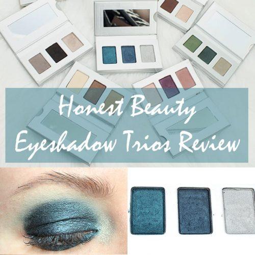 Honest Beauty Eyeshadow Trios Review