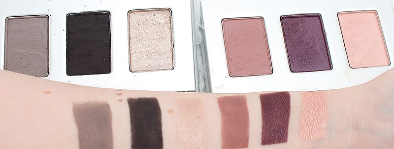 Honest Beauty Smoky Grey and Heather Mauve Trio Swatches Review Looks