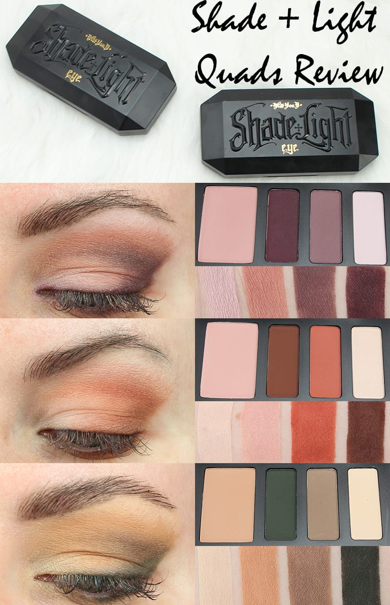 Kat Von D Shade + Light Eye Contour Quads Review Video Swatches Looks