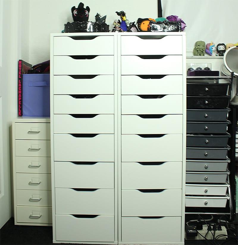 Ikea Alex, Ikea Helmer, 10 Drawer Organizer