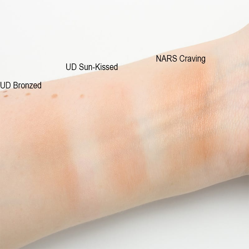 NARS Craving, Urban Decay Beached Bronzer Swatches