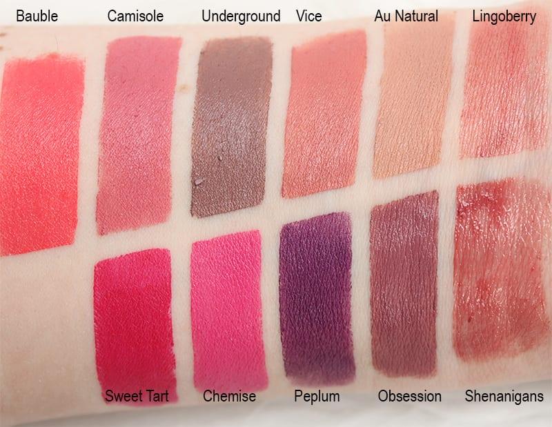 Silk Naturals Velvet Matte Lipstick Swatches