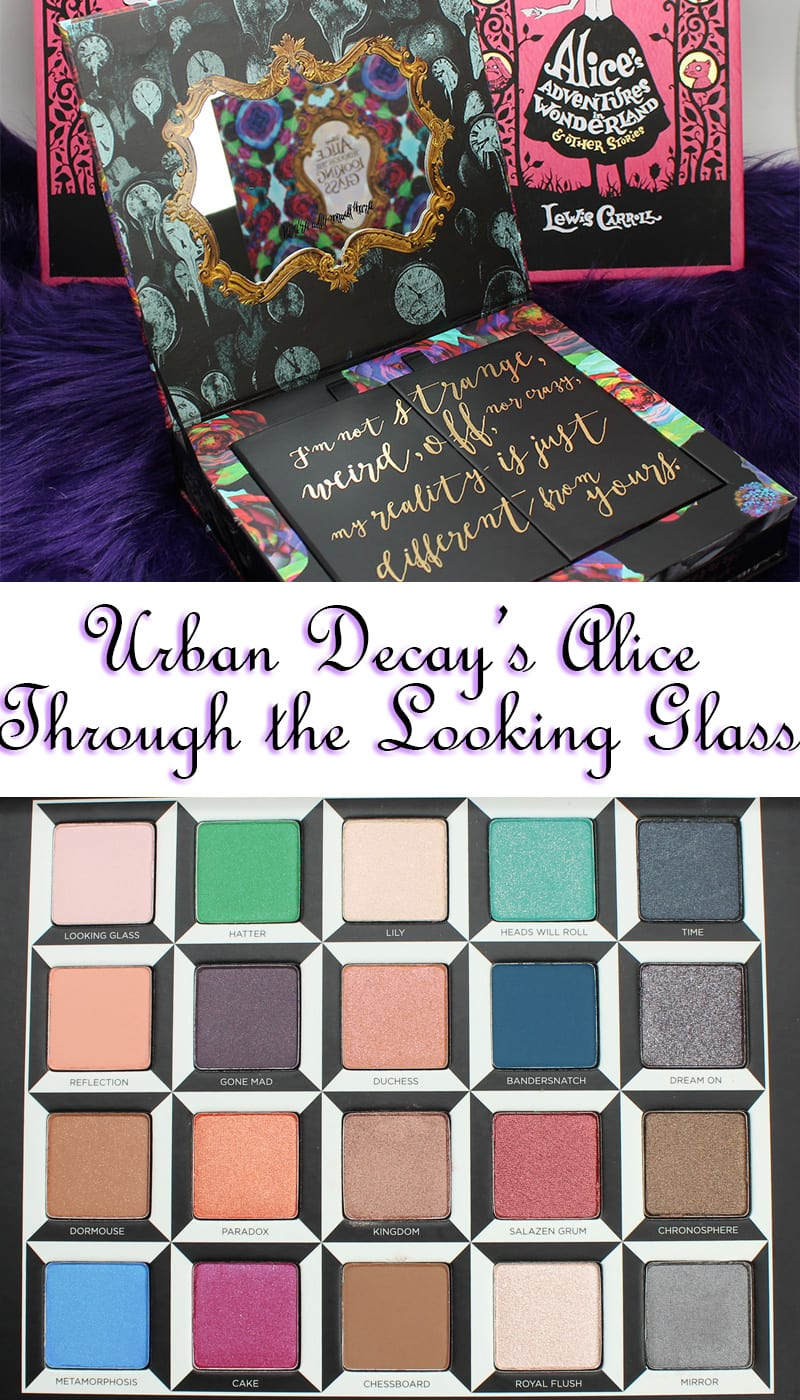 Urban Decay Alice Through the Looking Glass Eyeshadow Palette, Swatches, Thoughts, Look