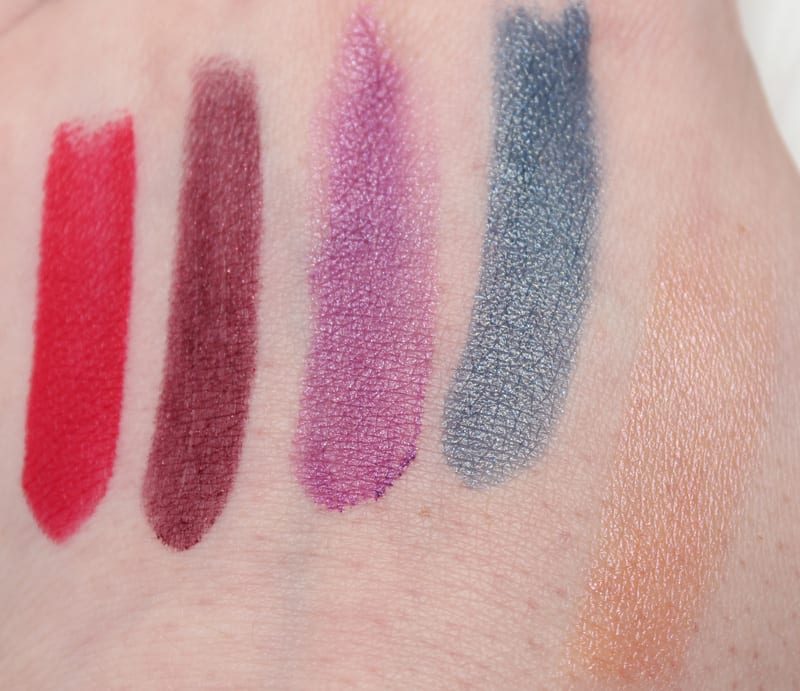 Urban Decay Alice Through the Looking Glass Lipsticks Swatches and Looks and Comparison