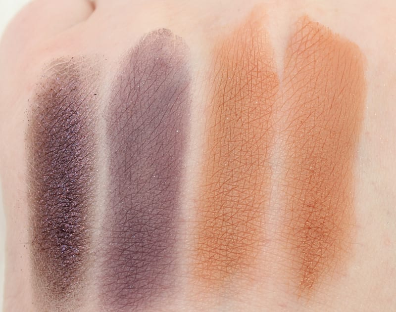 Urban Decay Uncut - Gone Mad - Riff - Dormouse swatches