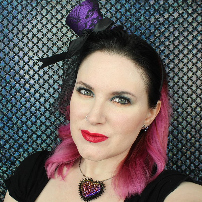 Urban Decay Iracebeth Lipstick on Pale Skin