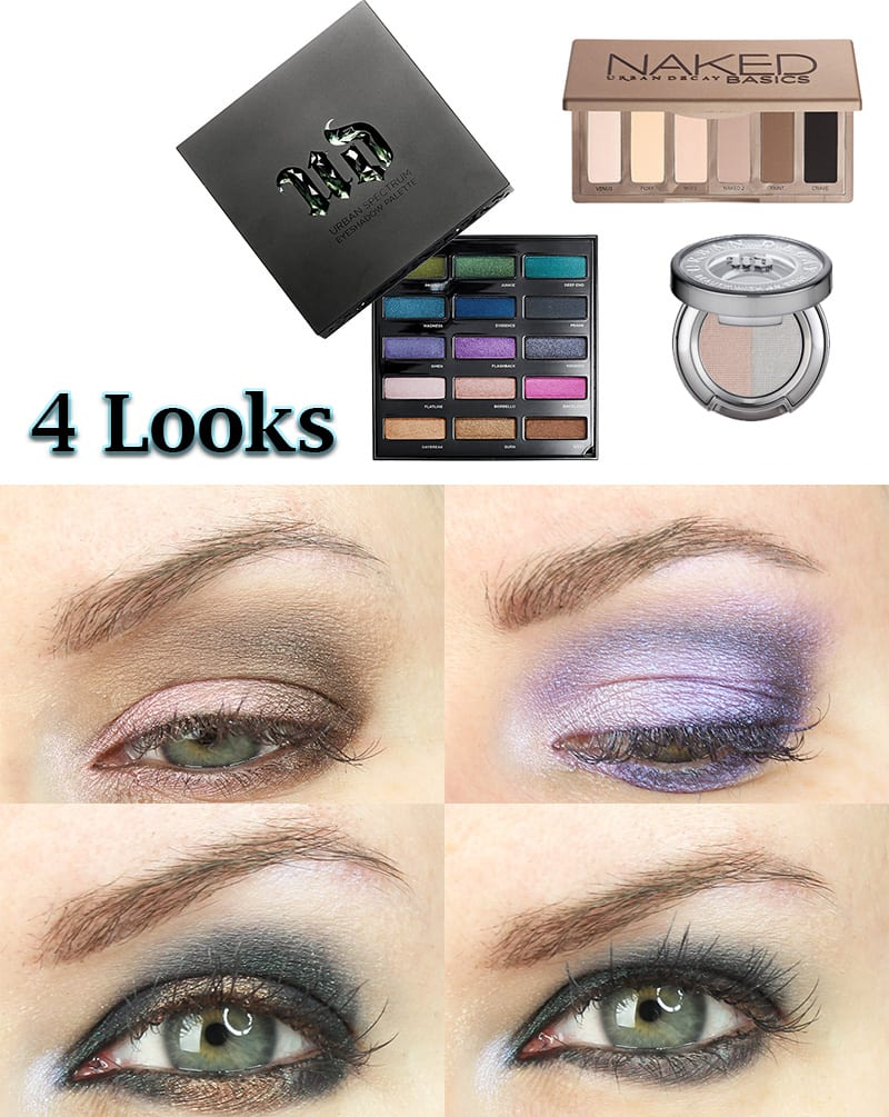 Four Urban Decay Spectrum Palette Looks