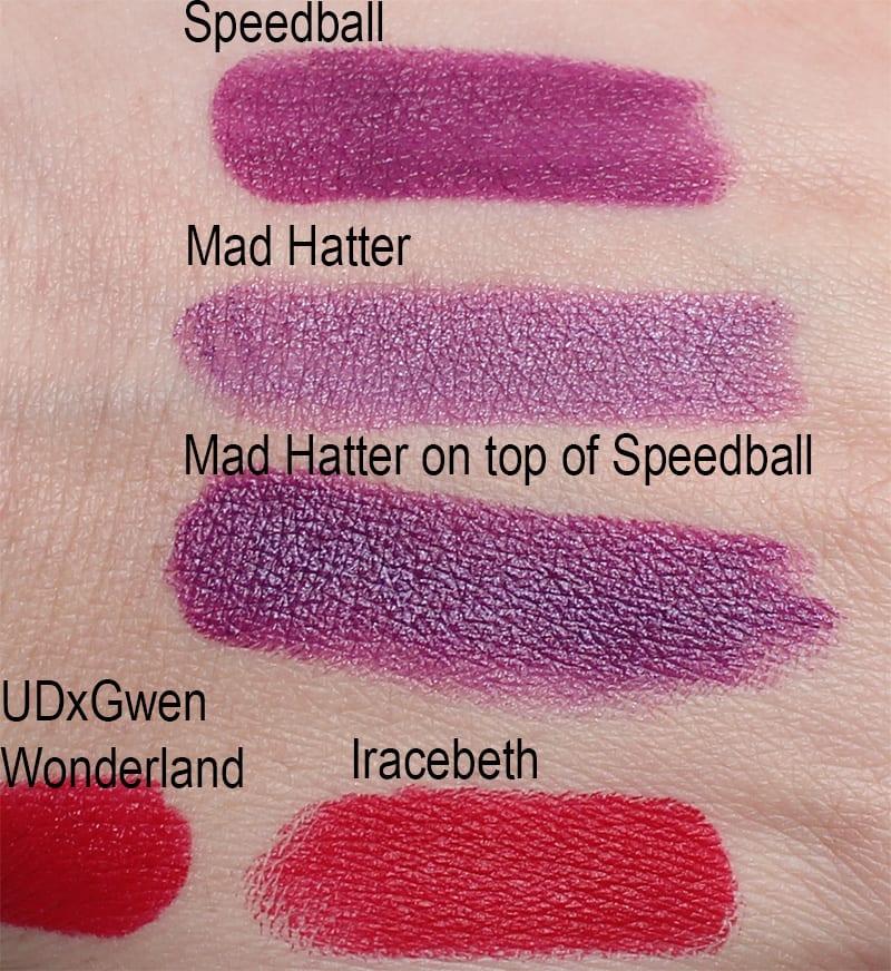 Urban Decay Speedball vs. Mad Hatter, Wonderland vs. Iracebeth