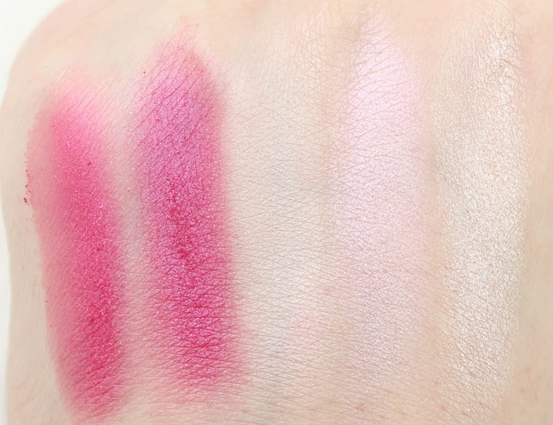 Urban Decay Woodstock - Cake - Looking Glass - Lily - Royal Flush swatches