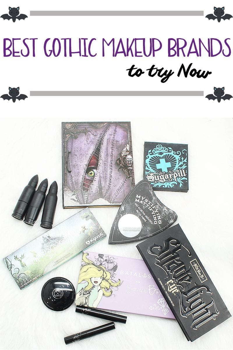 I'm sharing the best gothic makeup brands to try now. By gothic makeup brands I mean brands that have dark and unusual colors in their eyeshadows and lipsticks. Some even have fun and creepy names. All are cruelty free and many are vegan