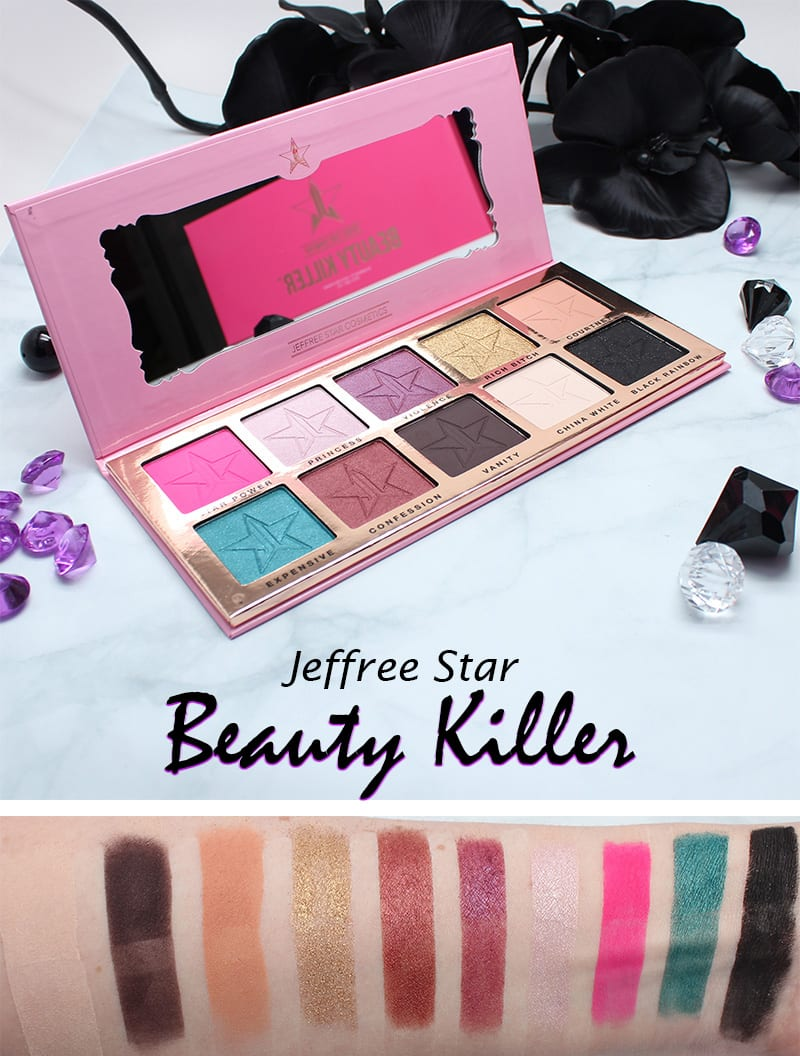 Jeffree Star Beauty Killer Palette Swatches