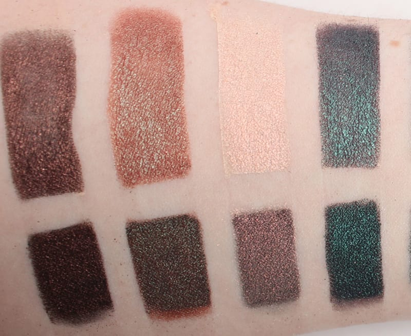 Makeup Geek Duochrome Palette Swatches