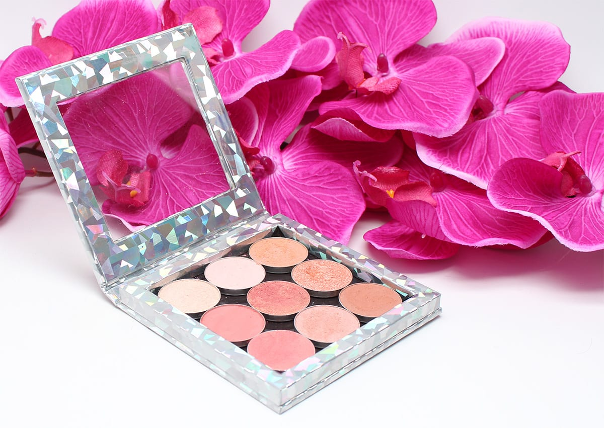 Makeup Geek Peach Palette. Swatches on Pale Skin, Perfect for Hooded ...