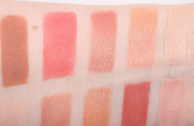 Makeup Geek Peach Palette Swatches