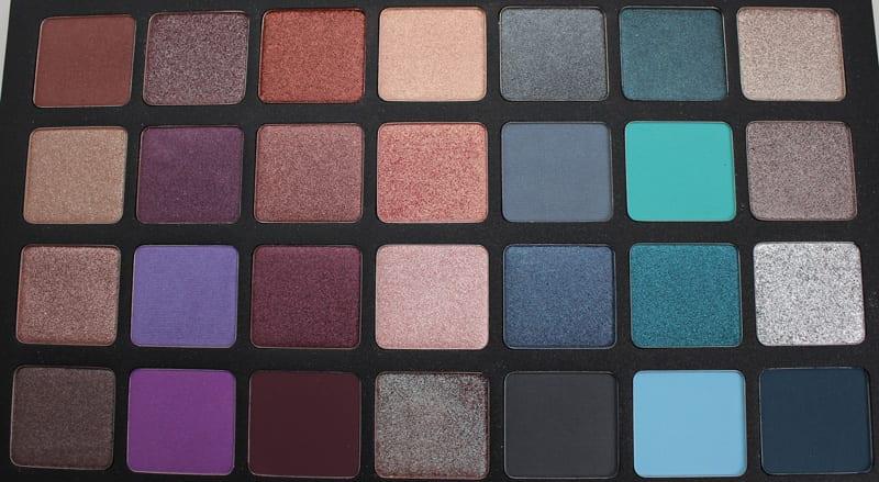 Natasha Denona 28 Purple Blue Eyeshadow Palette video swatches review