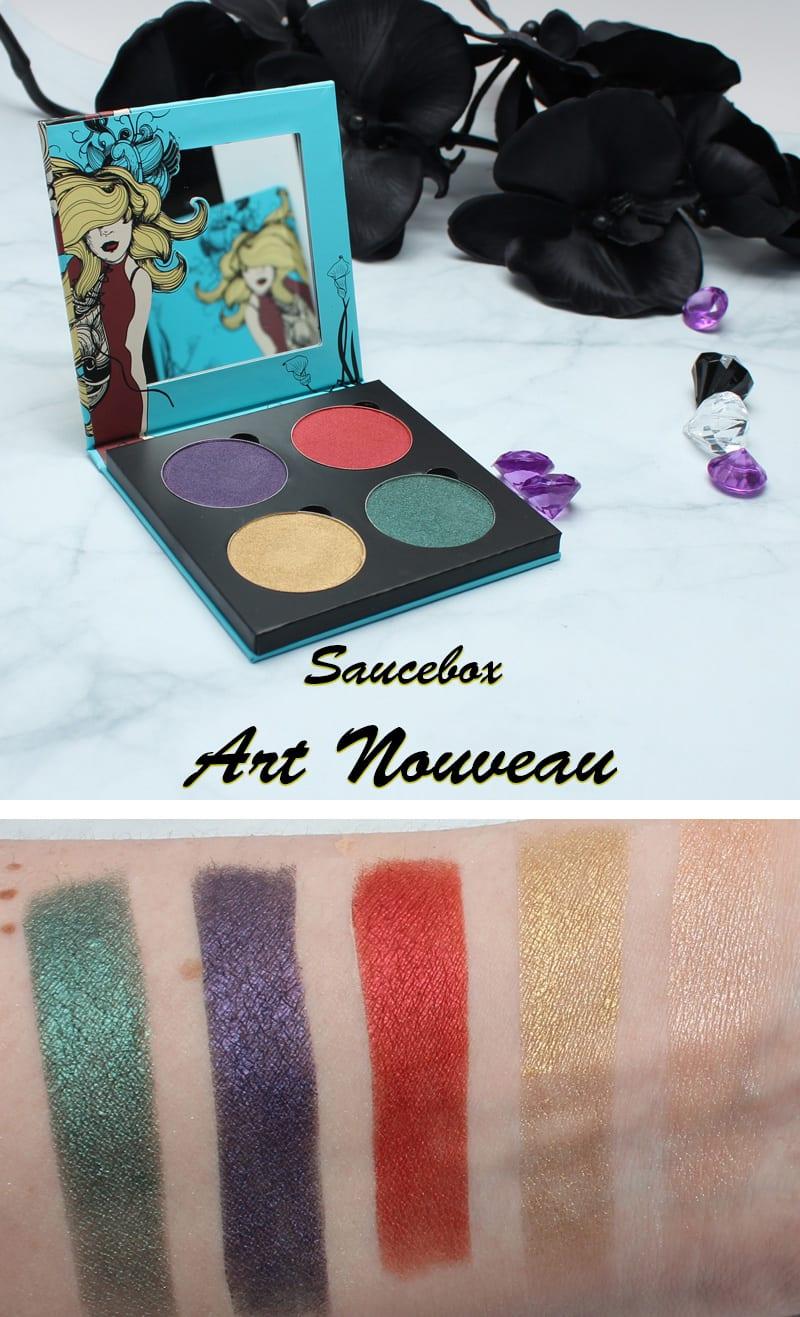 Saucebox Art Nouveau Palette Swatches