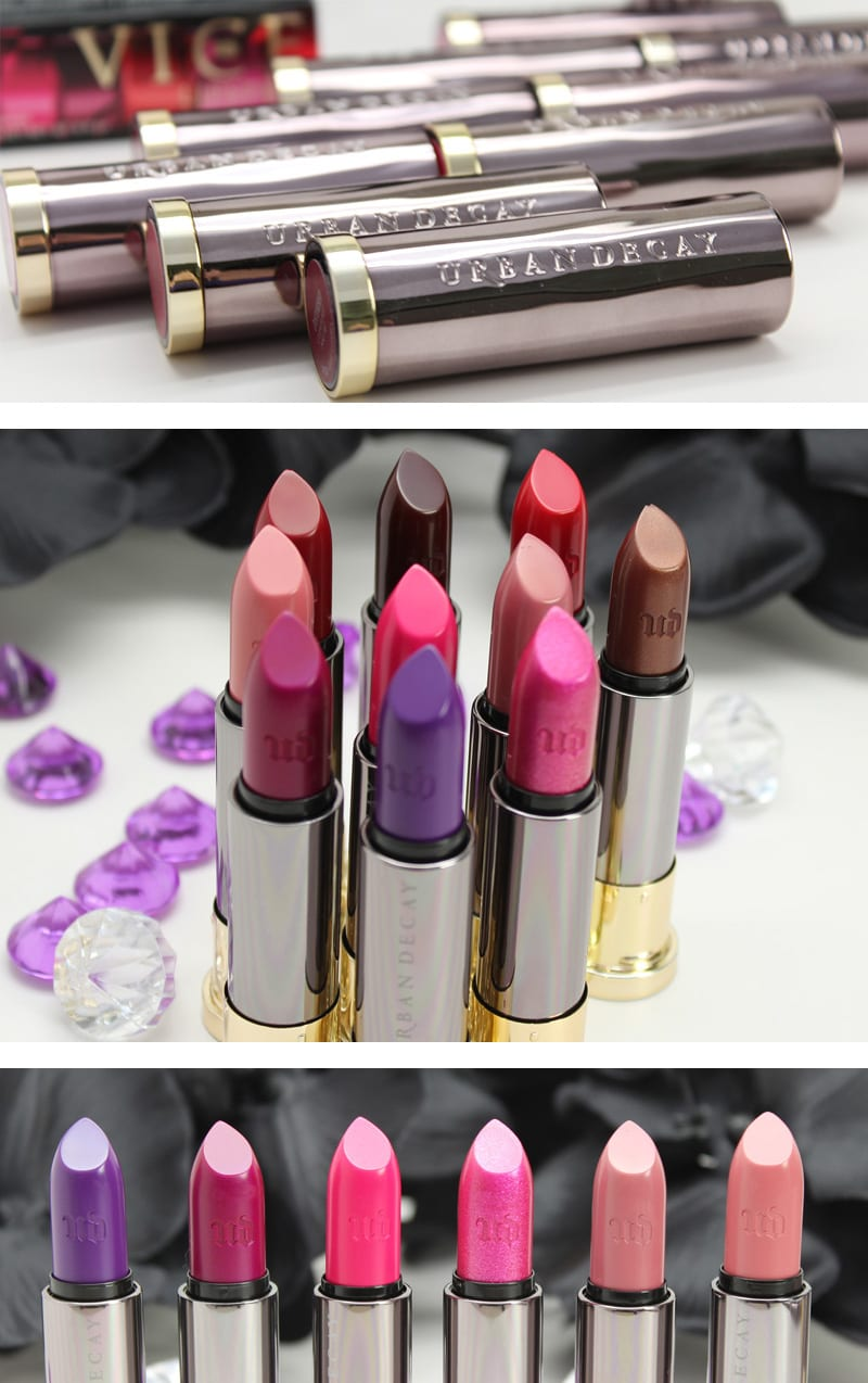 Urban Decay Wende's Favorites Vice Lipsticks Swatches and Looks