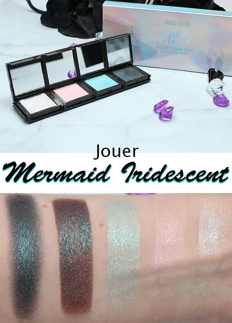 Jouer Mermaid Iridescent Eyeshadow Palette Swatches