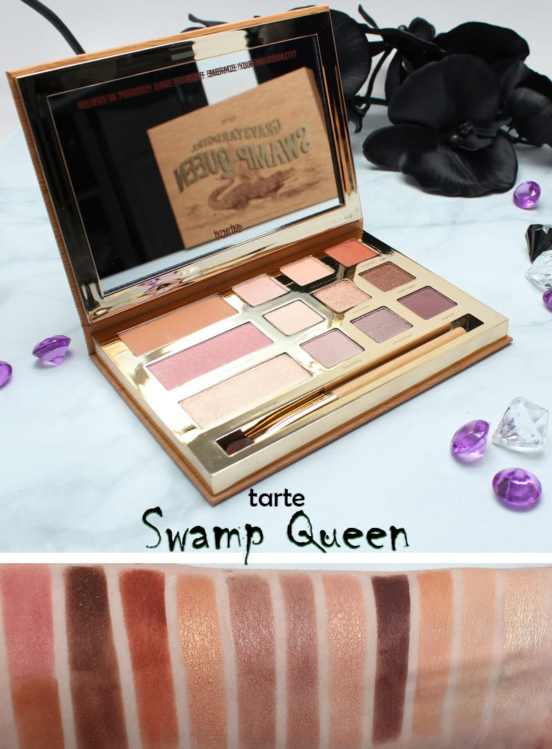 Tarte Grav3yardgirl Swamp Queen Palette Swatches On Pale Skin