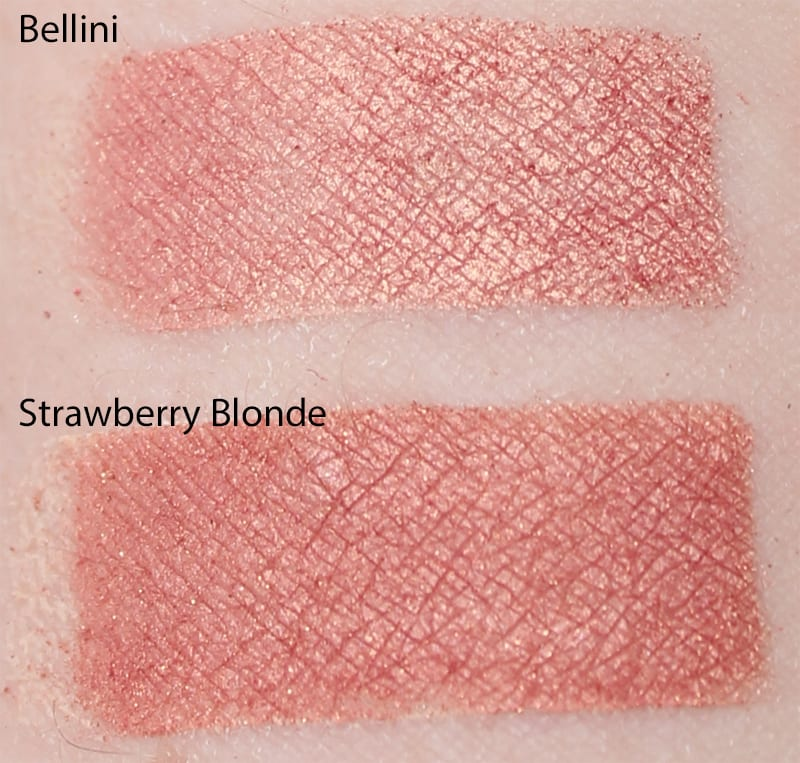 Silk Naturals Strawberry Blond dupe for Too Faced Bellini swatch