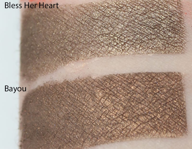 Silk Naturals Bayou dupe for Too Faced Bless Her Heart swatch