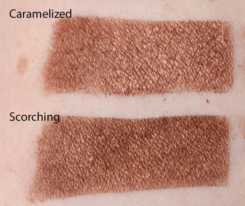 Silk Naturals Scorching dupe for Too Faced Caramelized swatch