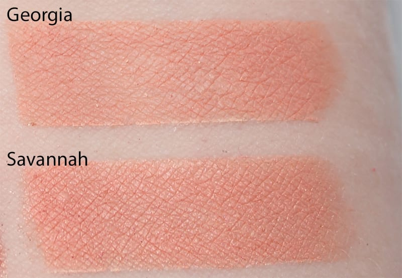 Silk Naturals Savannah dupe for Too Faced Georgia swatch