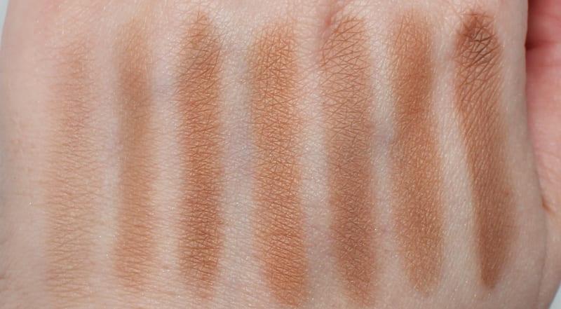 Fiona Stiles Palette Trio in Light Medium - Makeup Geek Love Triangle - Break Up - Bad Habit - Infidelity contour powder swatches