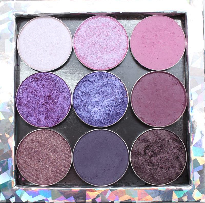 Makeup Geek Purple Palette Swatches on Fair Skin