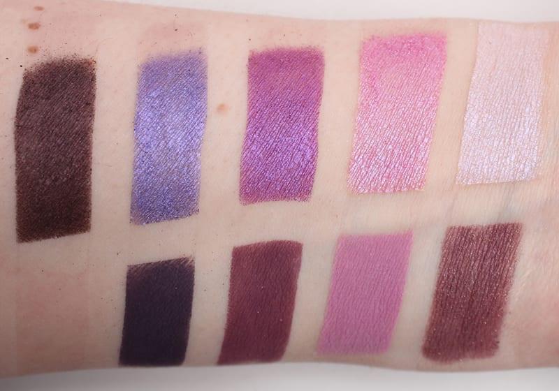 Makeup Geek Purple Palette swatches
