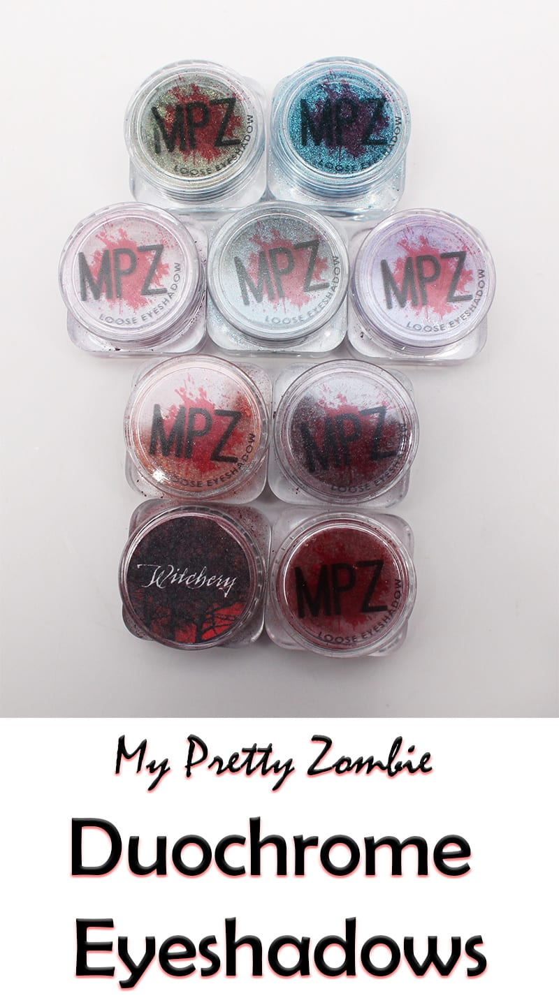 My Pretty Pink Gel Nails: My Pretty Zombie Duochrome Eyeshadows Swatches And Review