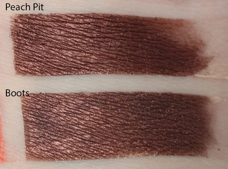 Silk Naturals Boots dupe for Too Faced Peach Pit swatch