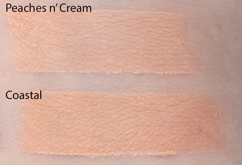 Silk Naturals Coastal dupe for Too Faced Peaches n' Cream swatch