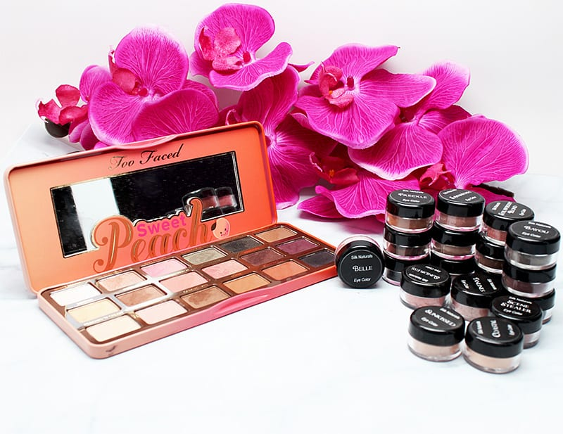 Too Faced Sweet Peach vs. Silk Naturals Plenty of Peaches Palette dupes, swatches, thoughts
