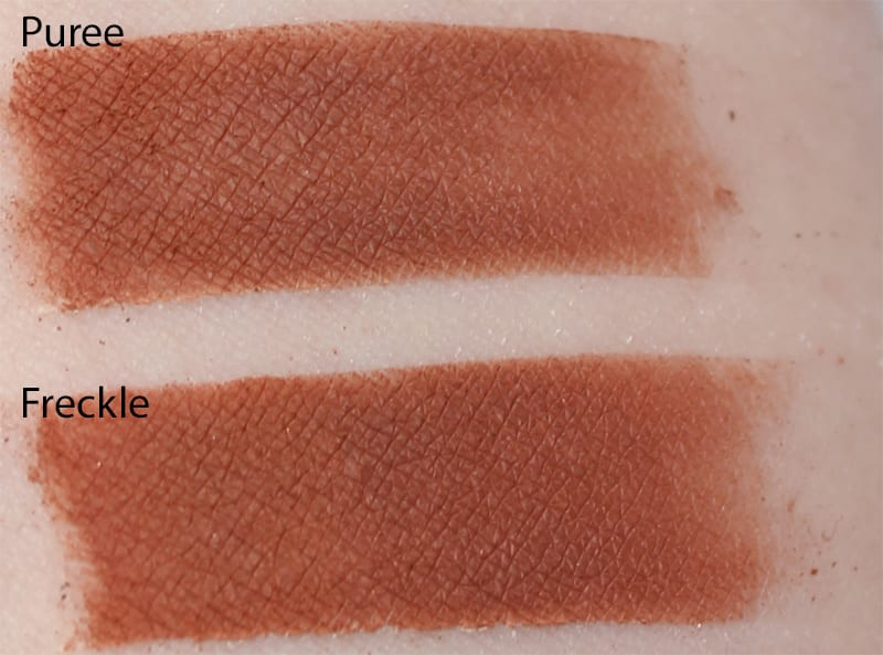 Silk Naturals Freckle dupe for Too Faced Puree swatch