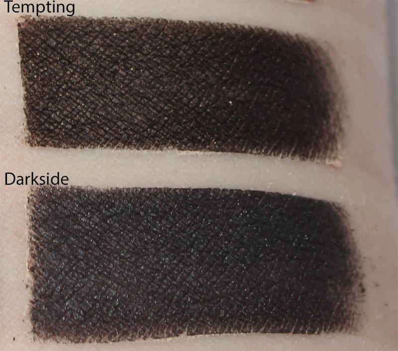 Silk Naturals Darkside dupe for Too Faced Tempting and Urban Decay Black Market swatch