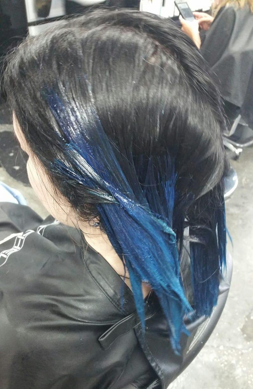 Paul Mitchell Teal Blue Gradient Hair