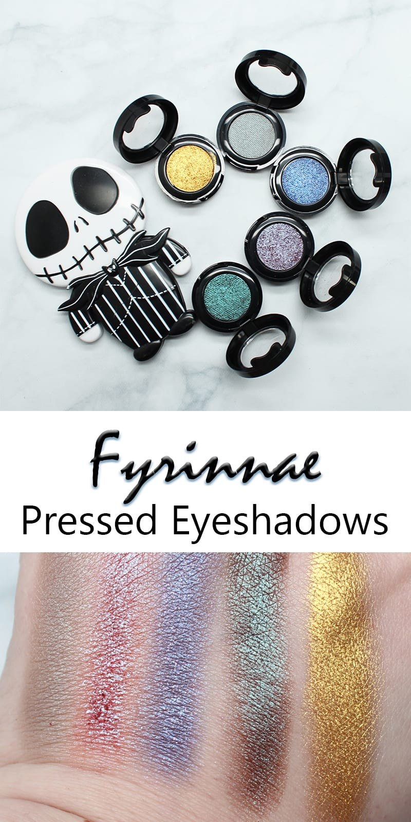 Fyrinnae Pressed Eyeshadows Review and Swatches by Phyrra.net