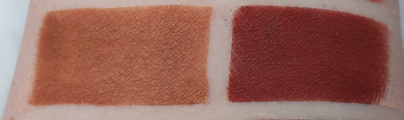 Anastasia Raw Sienna, Red Ocre swatches