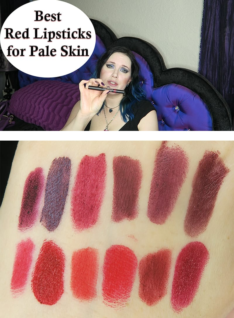The Best Red Lipsticks for Fair Skin and Pale Skin. Lip swatches!