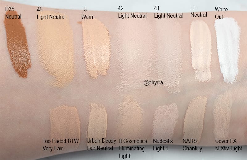 Kat Von D Lock It Concealer Creme Review And Swatches On