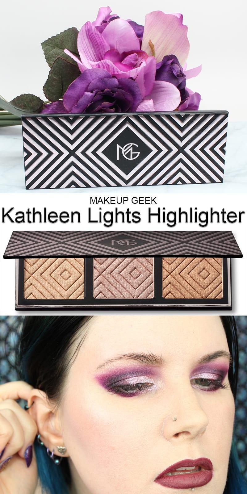 Makeup Geek Kathleen Lights Highlighter Palette Swatches